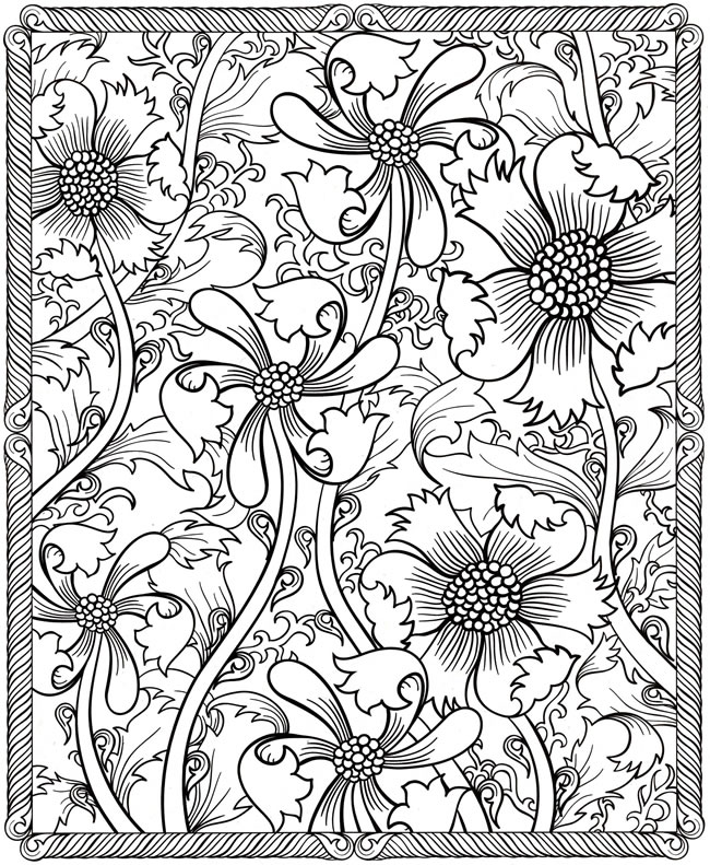 650x791 Hard Coloring Pages For Adults