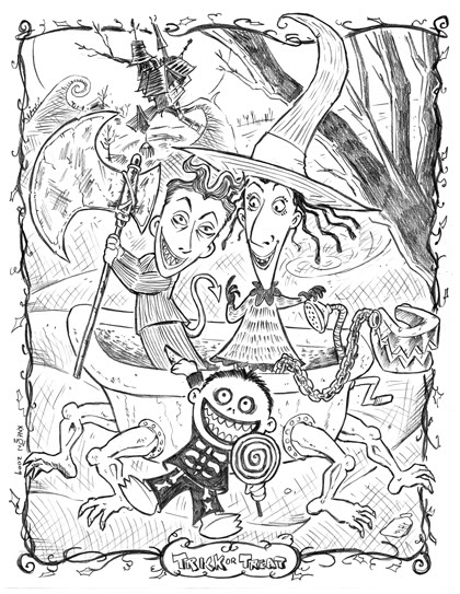 420x543 Nightmare Before Christmas Coloring Page. ~400x500px, Printable
