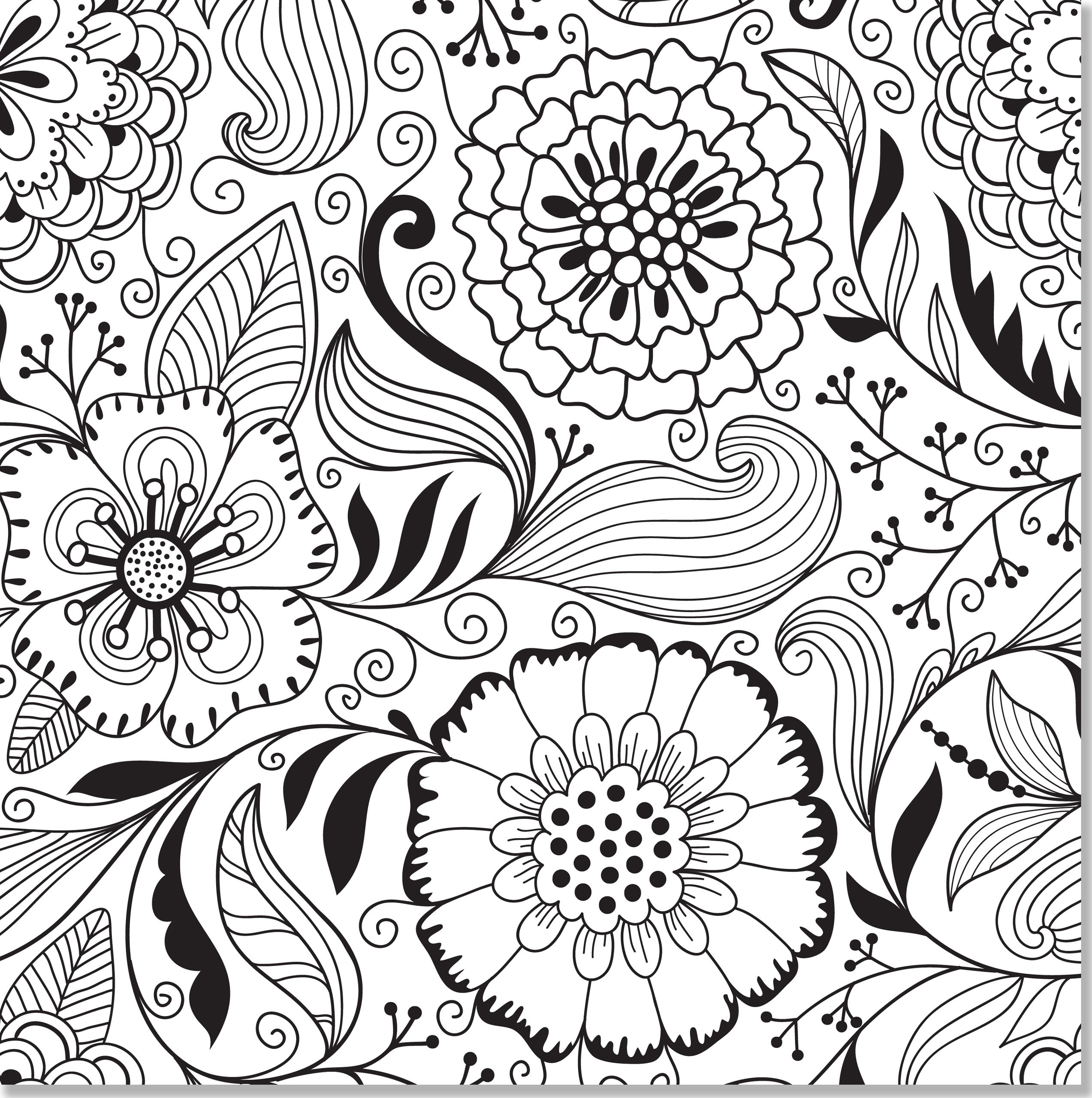 2546x2560 Full Page Adult Coloring Pages Free Printable Printable