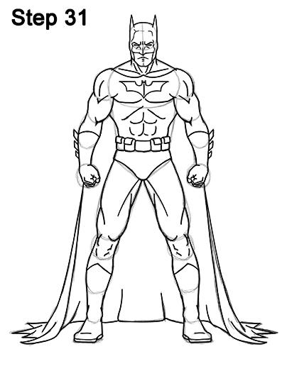 404x523 Batman Drawing How To Draw Batman Full Body
