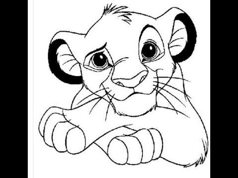 480x360 Coloring Pages Alluring The Lion King Drawing Hqdefault Coloring