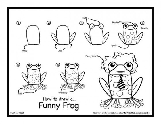 560x433 How To Draw A Frog