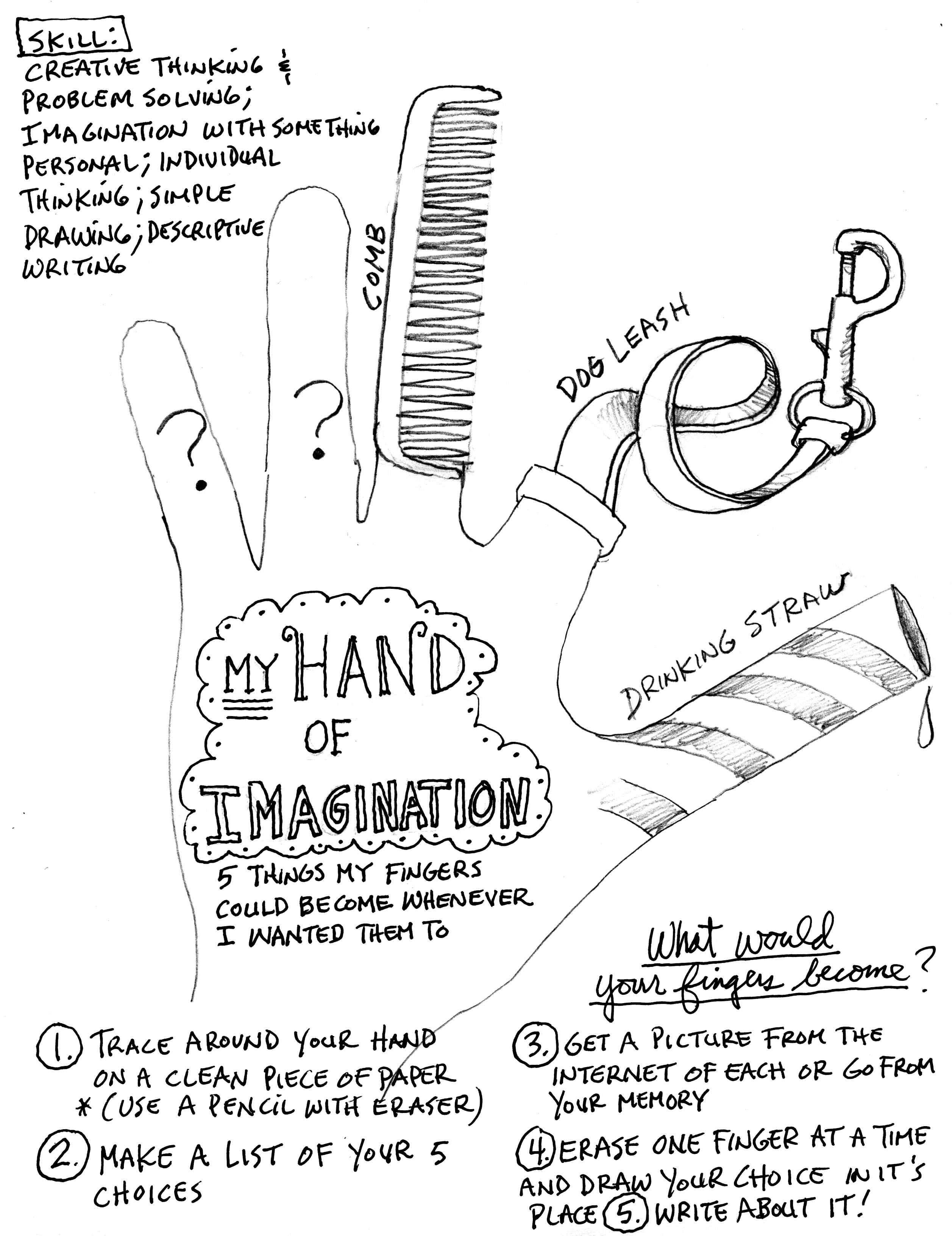 2514x3264 Imagination Hand Activity (Super Fun, Even For Adults!) Draw