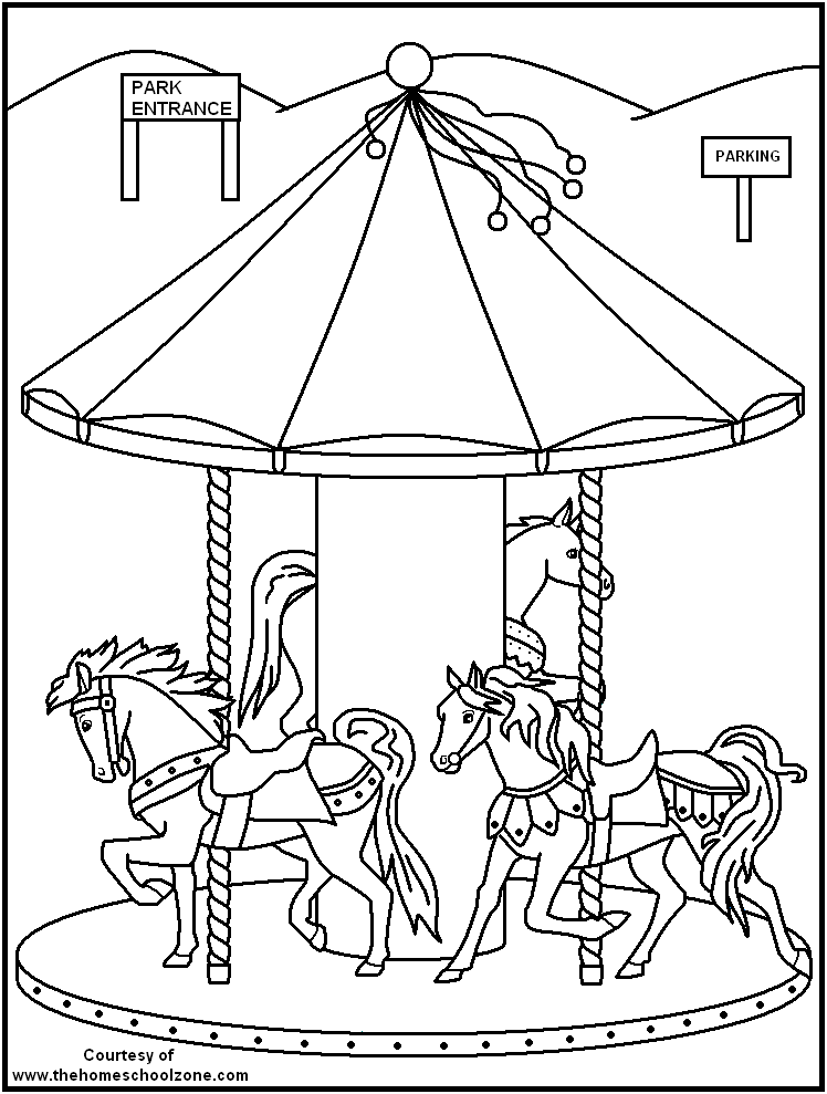 fun fair coloring pages - photo#16