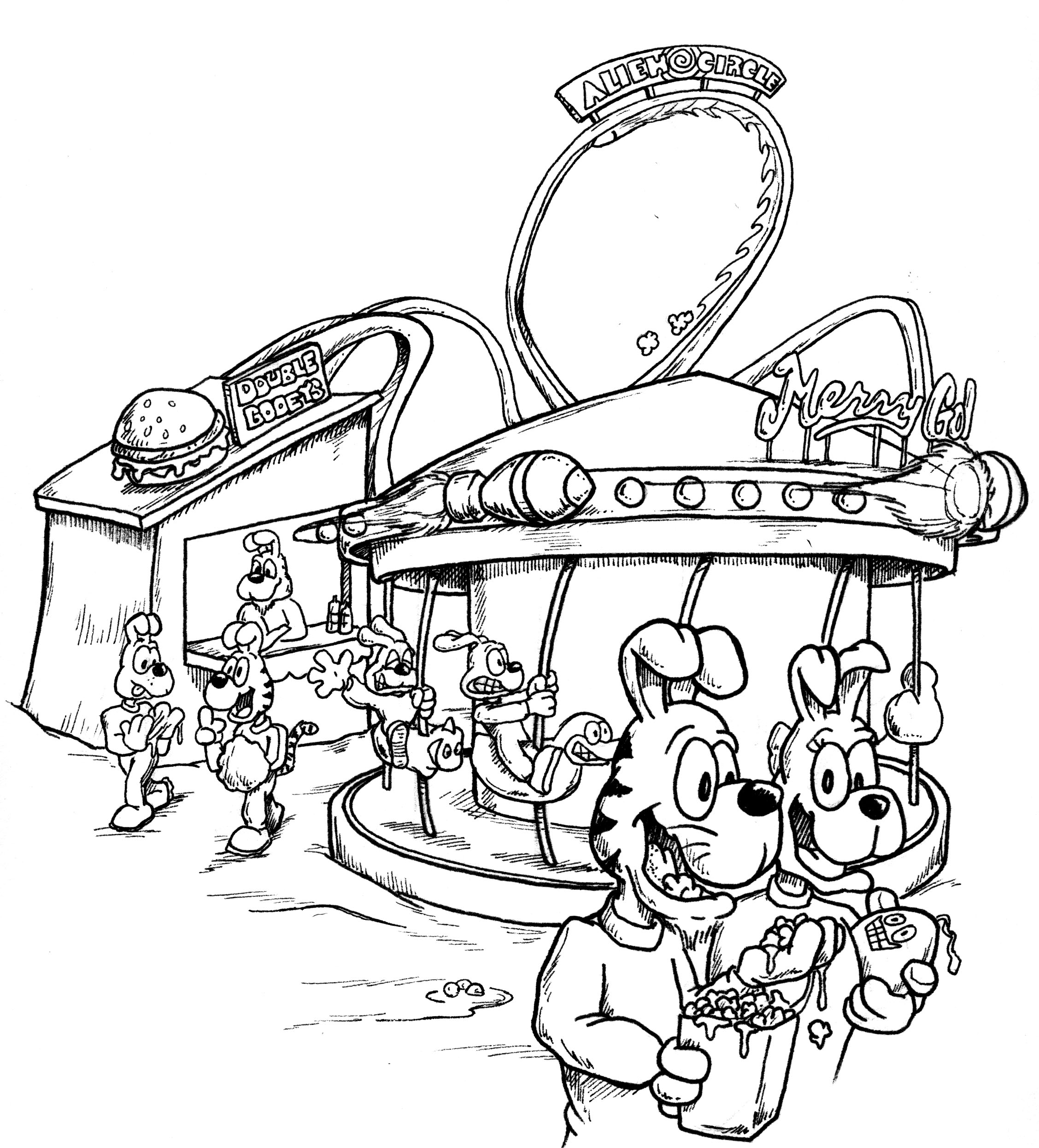 fun fair coloring pages - photo#18