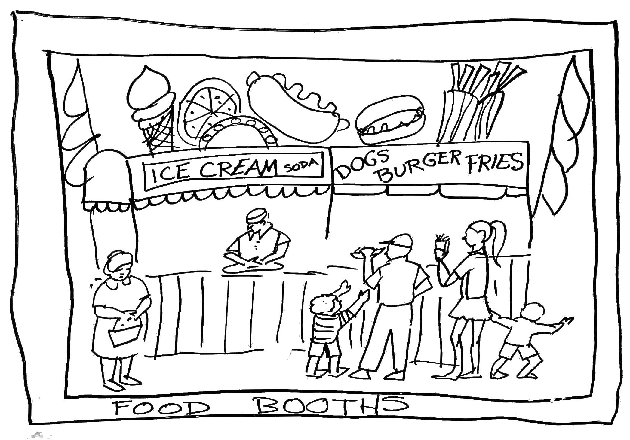 fun fair coloring pages - photo#22