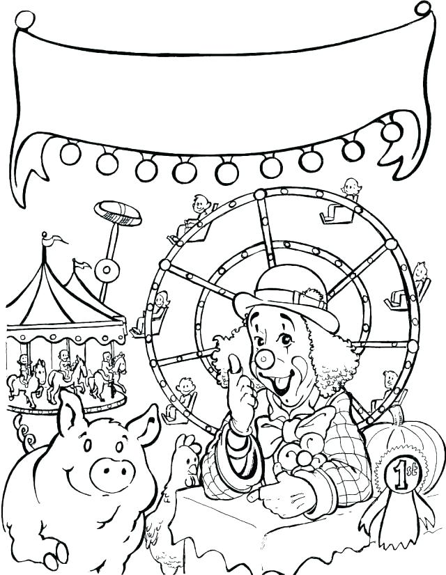 640x826 Fun Fair Coloring Pages Coloring Collection