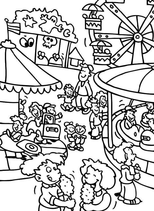 fun fair coloring pages - photo#3