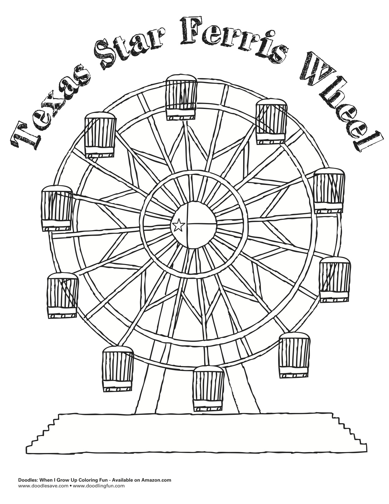 fun fair coloring pages - photo#28