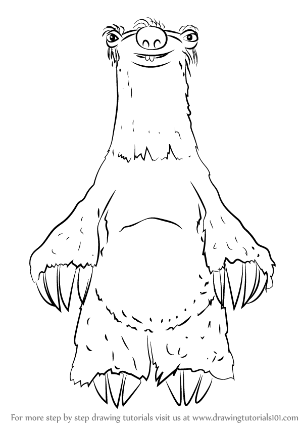 598x844 Learn How To Draw Uncle Fungus From Ice Age (Ice Age) Step By Step