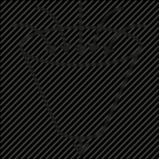 512x512 Analytics, Arrow, Data, Filter, Flow, Funnel, Leak Icon Icon