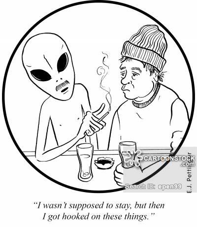 400x461 Hooked On Smoking Cartoons And Comics