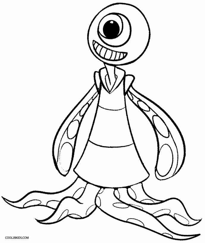 689x815 Printable Alien Coloring Pages For Kids Cool2bkids