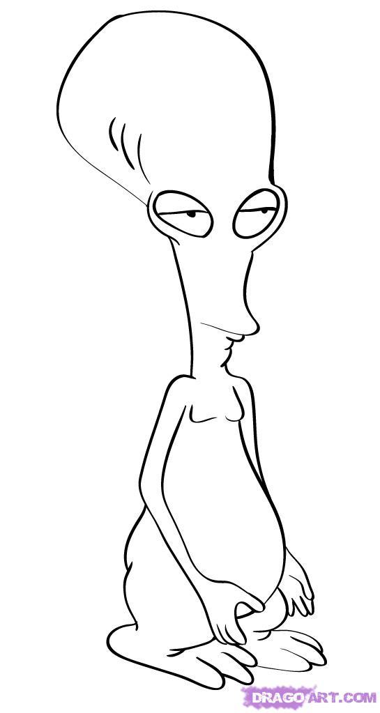 545x1023 Roger The Alien Hilarious! Aliens, Sketches