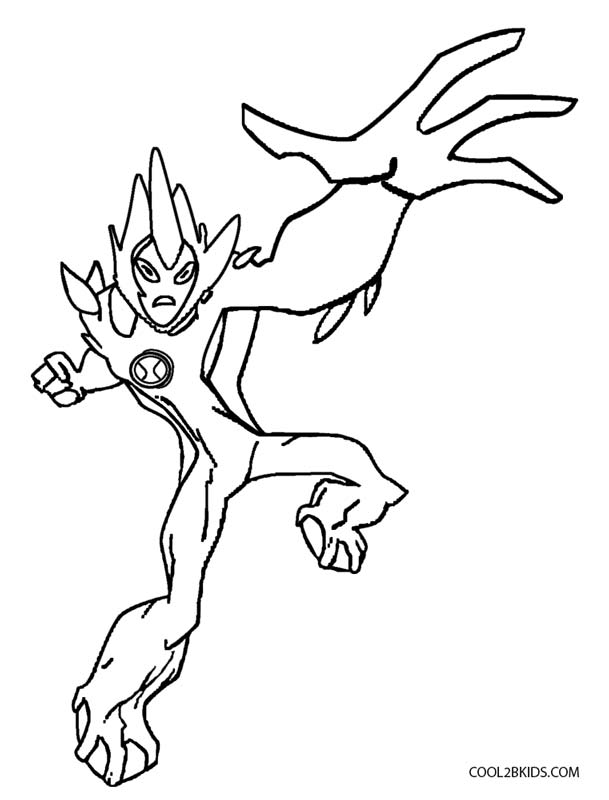 609x800 Ben 10 Ultimate Four Arms Coloring Pages