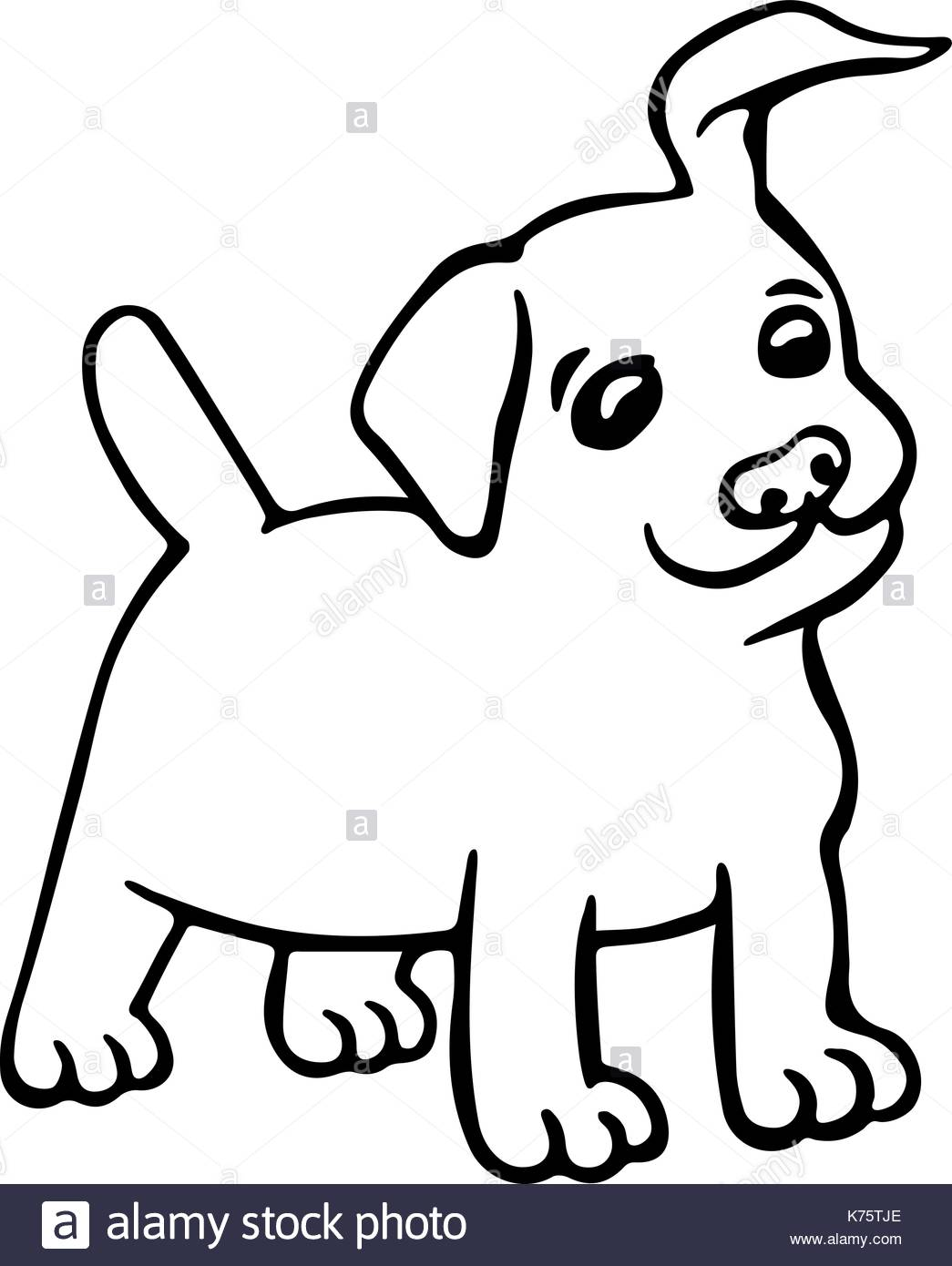 1045x1390 Funny Puppy Dog Isolated Vector Illustration. Cute Cartoon Fur