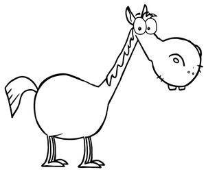 300x251 Funny Horse Drawing Funny Animal
