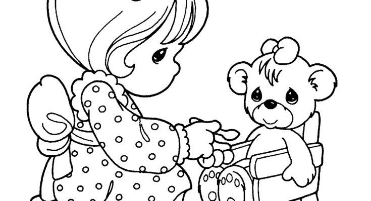 735x400 Animal Coloring Fun Animal Coloring Page Precious Moment Fun
