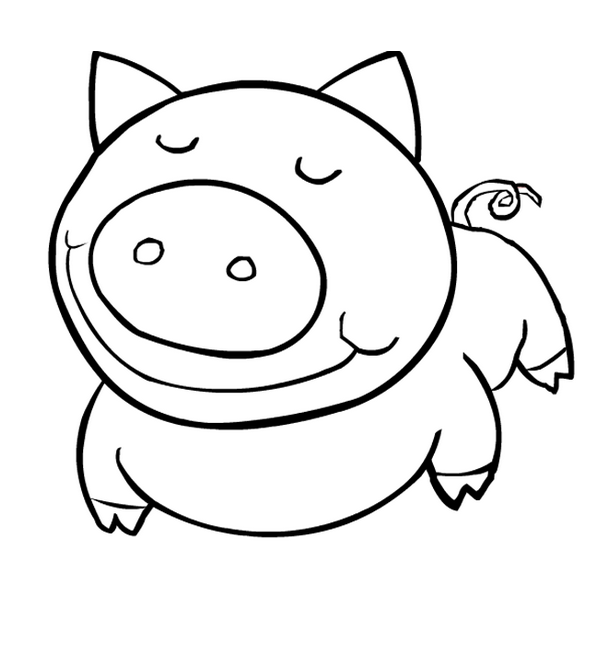 612x652 Easy Animal Coloring Pages Printable To Funny Draw Print