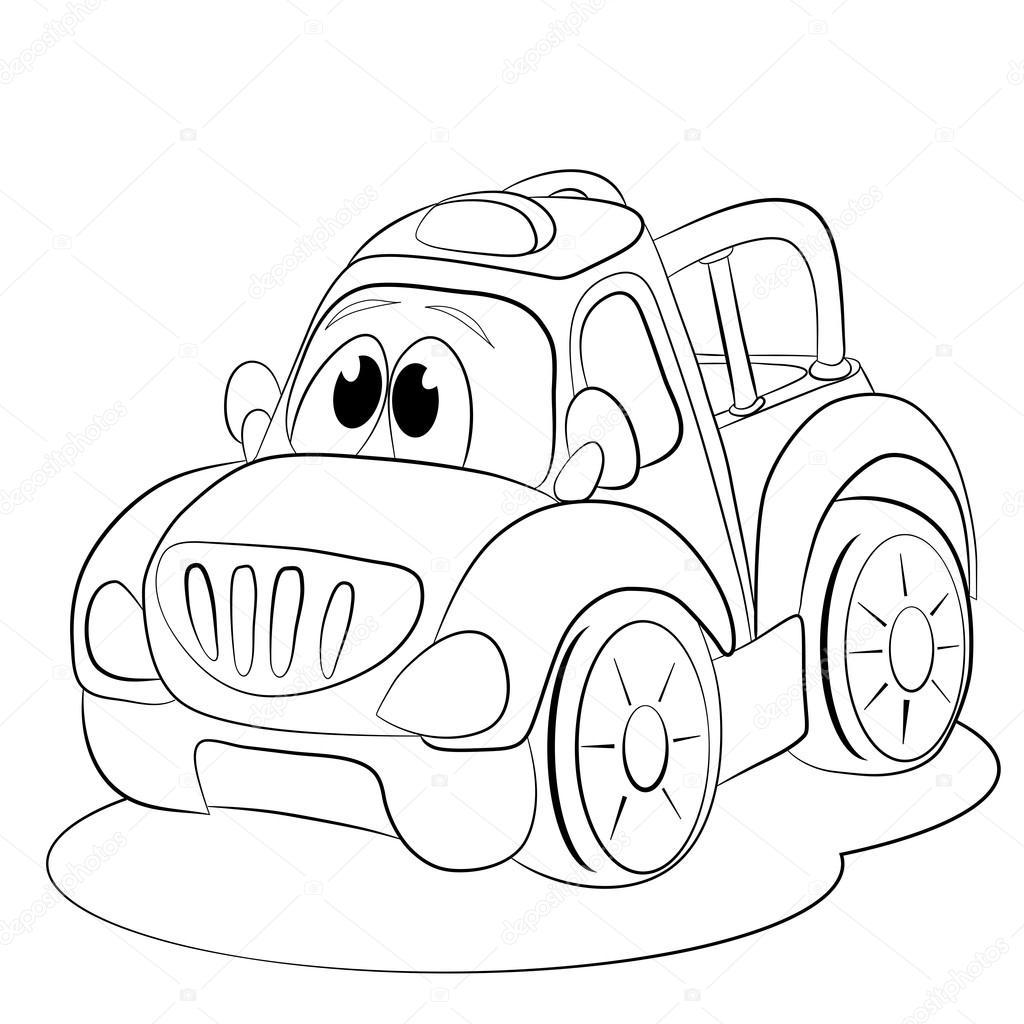 1024x1024 Cartoon Funny Car Stock Vector Vitasunny