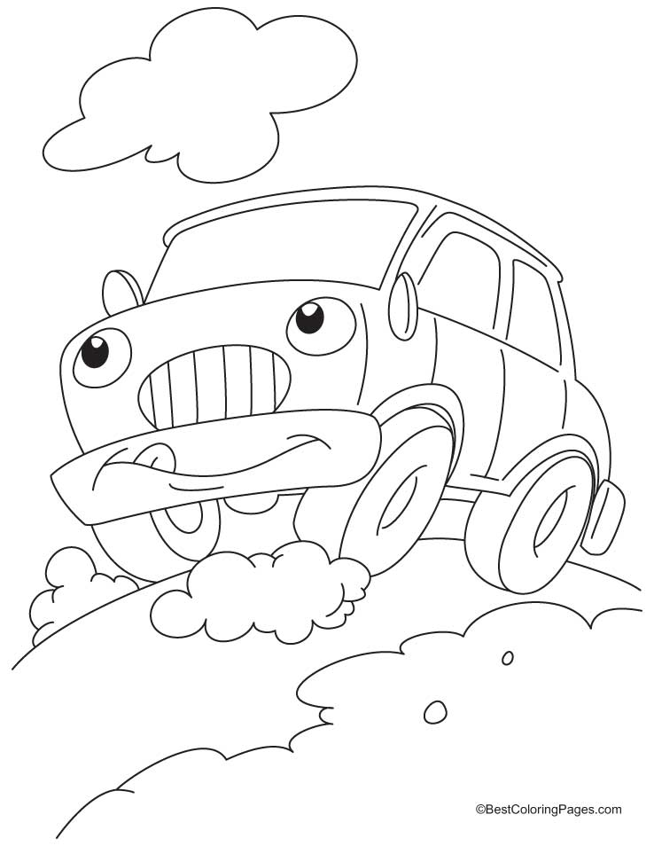 Funny Car Drawing at GetDrawings.com | Free for personal use Funny ...