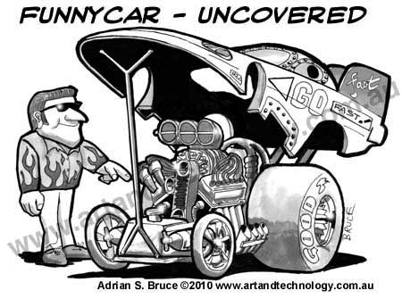 450x335 Art And Technology Drag Racing Funny Cars And Top Fuel Cartoons