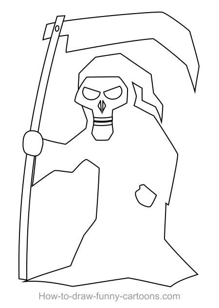 450x633 Drawing A Cartoon Reaper