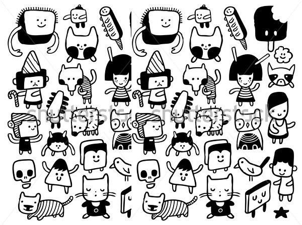 600x448 Cartoon Sketches, Cartoon Face Sketches Free Amp Premium Templates