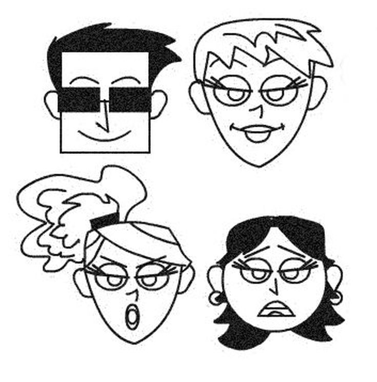 735x745 Create Hundreds Of Cartoon Faces With A Few Simple Shapes