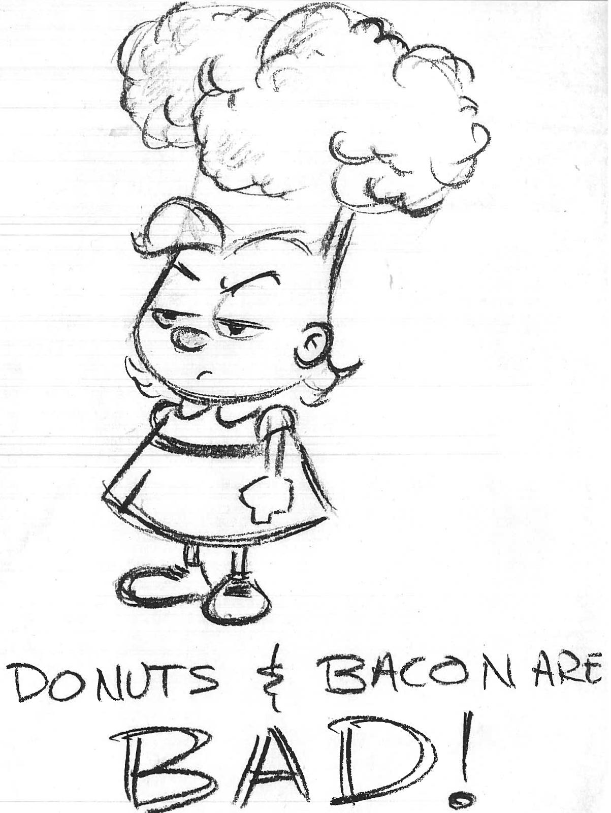 1203x1600 Nickalive! The Magical Unicorn, Broccoli Girl And Bacon Man