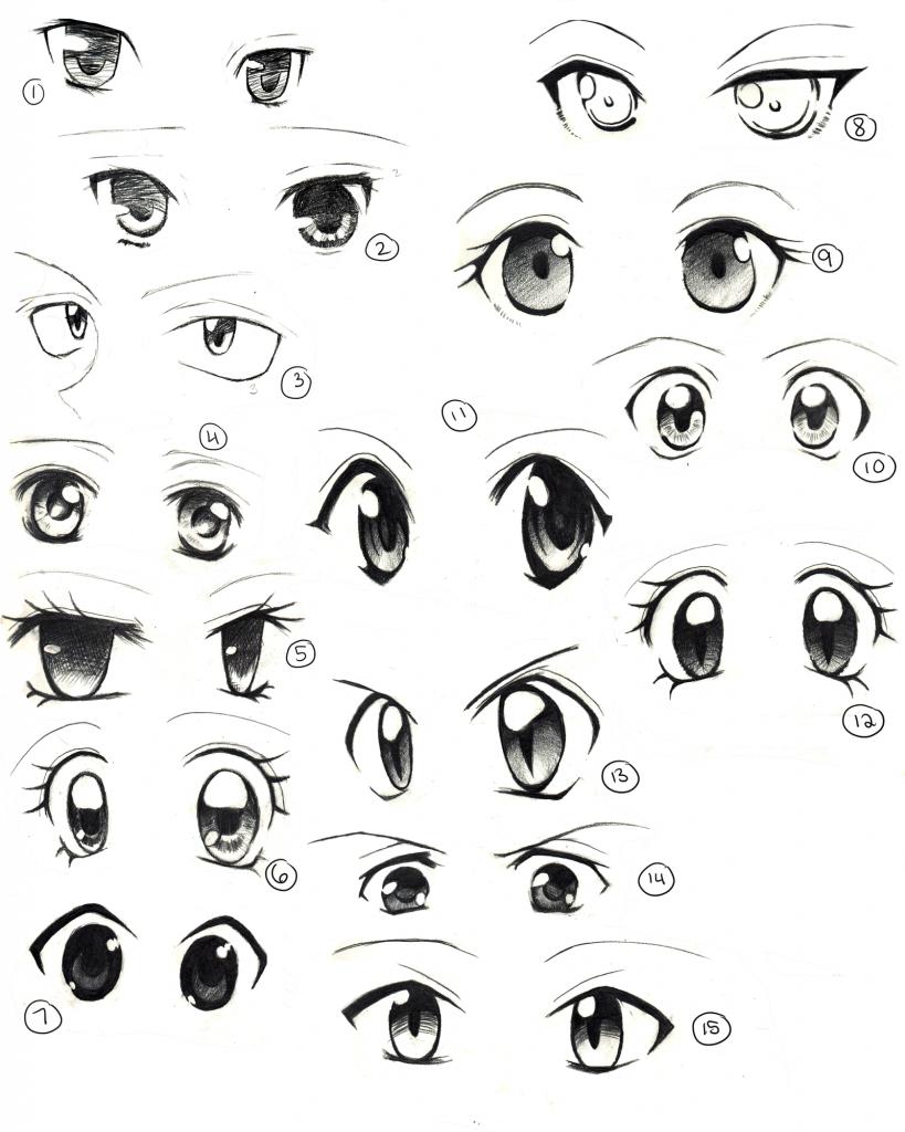 819x1024 Draw Cute Anime Eyes