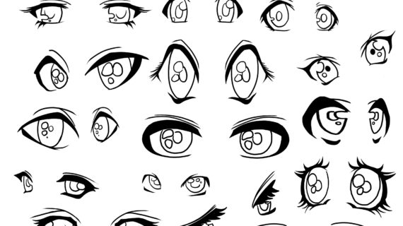 570x320 Anime Eyes Drawing Tutorial Anime Eye Expressions Drawing