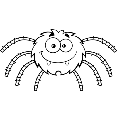 480x466 Funny Cartoon Spider Coloring Page Free Printable Coloring Pages