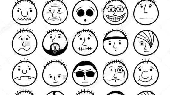 570x320 How To Draw Funny Faces Set Of Hand Drawn Funny Cartoon Faces