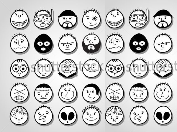 600x448 Cartoon Sketches, Cartoon Face Sketches Free Amp Premium Templates