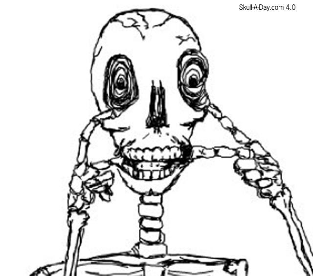 640x563 Make A Funny Face Skull