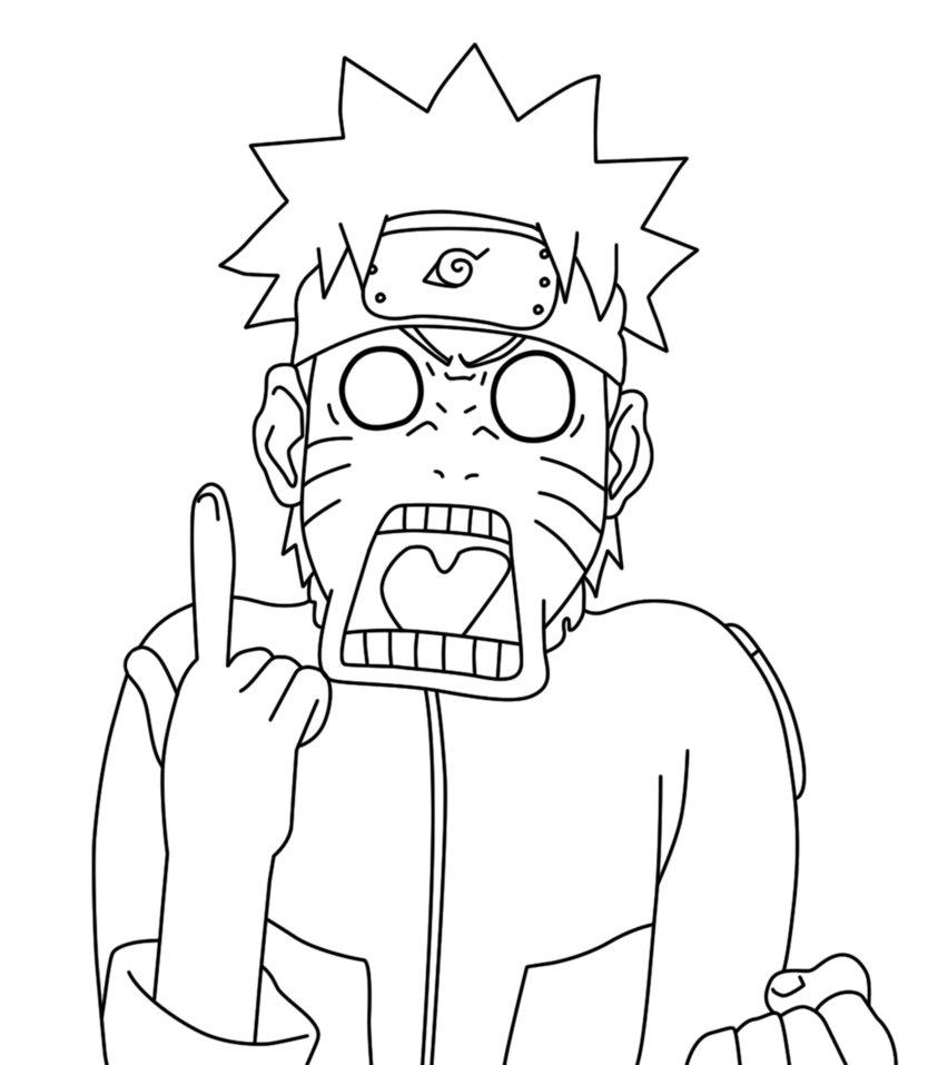 834x957 Naruto Funny Face Lineart By Danilo34ramos
