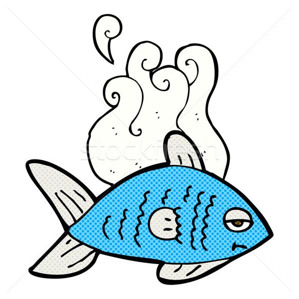 600x600 Comic Cartoon Funny Fish Vector Illustration Lineartestpilot