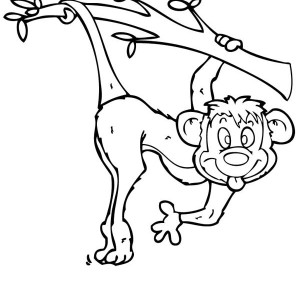300x300 Monkey Drawing Coloring Page Monkey Drawing Coloring Page.jpg