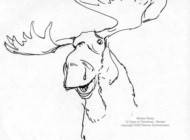 Funny moose drawing at getdrawings free for personal use 638x470 4th day of christmas drawing moose word from werner thecheapjerseys Images