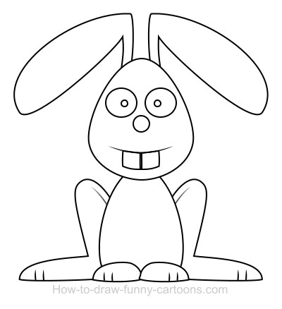 400x438 Drawn Rabbit Funny Bunny