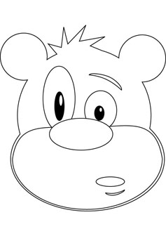 237x336 Funny Bear Coloring Drawing