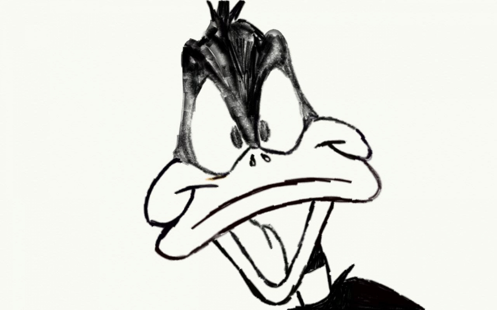 1024x640 Funny Cartoon Pencil Sketches Daffy Duck Pencil Drawing