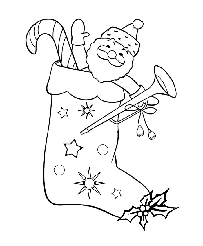 Funny Santa Claus Drawing