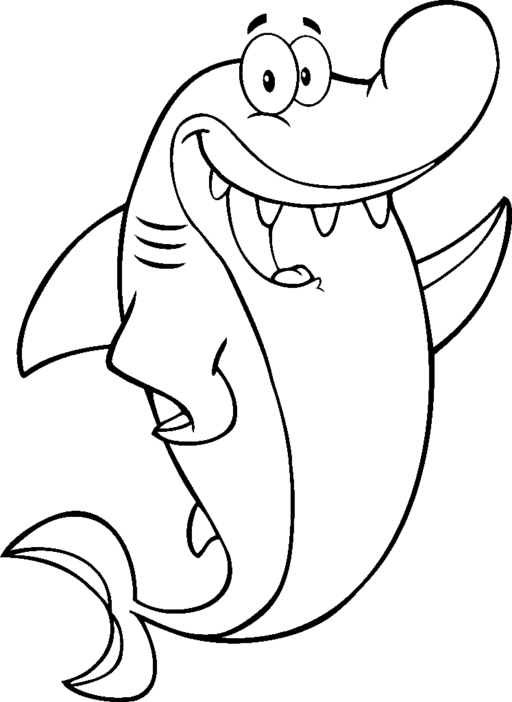 Funny Shark Drawing at GetDrawings.com | Free for personal ...