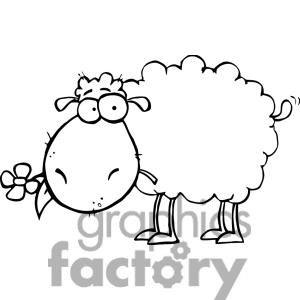 Funny Sheep Drawing