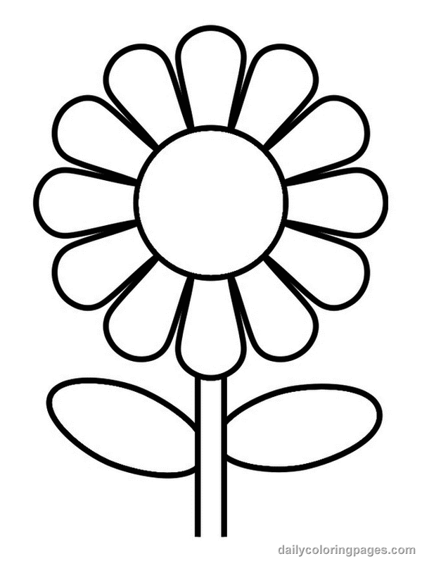 600x800 Daisy Flower Sun Coloring Page Preschool To Funny Photo Beautiful