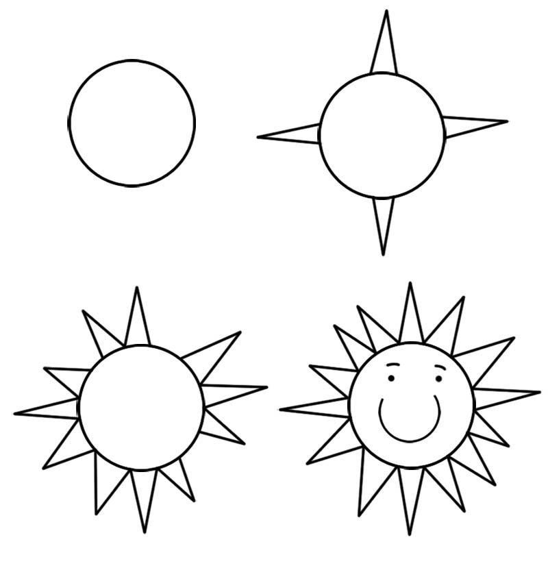 800x848 Draw The Sun For Kids