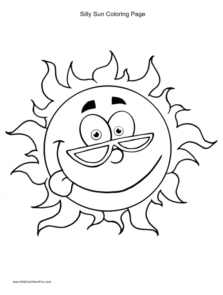 Sun Template Preschool 1732 Best Coloring Pages
