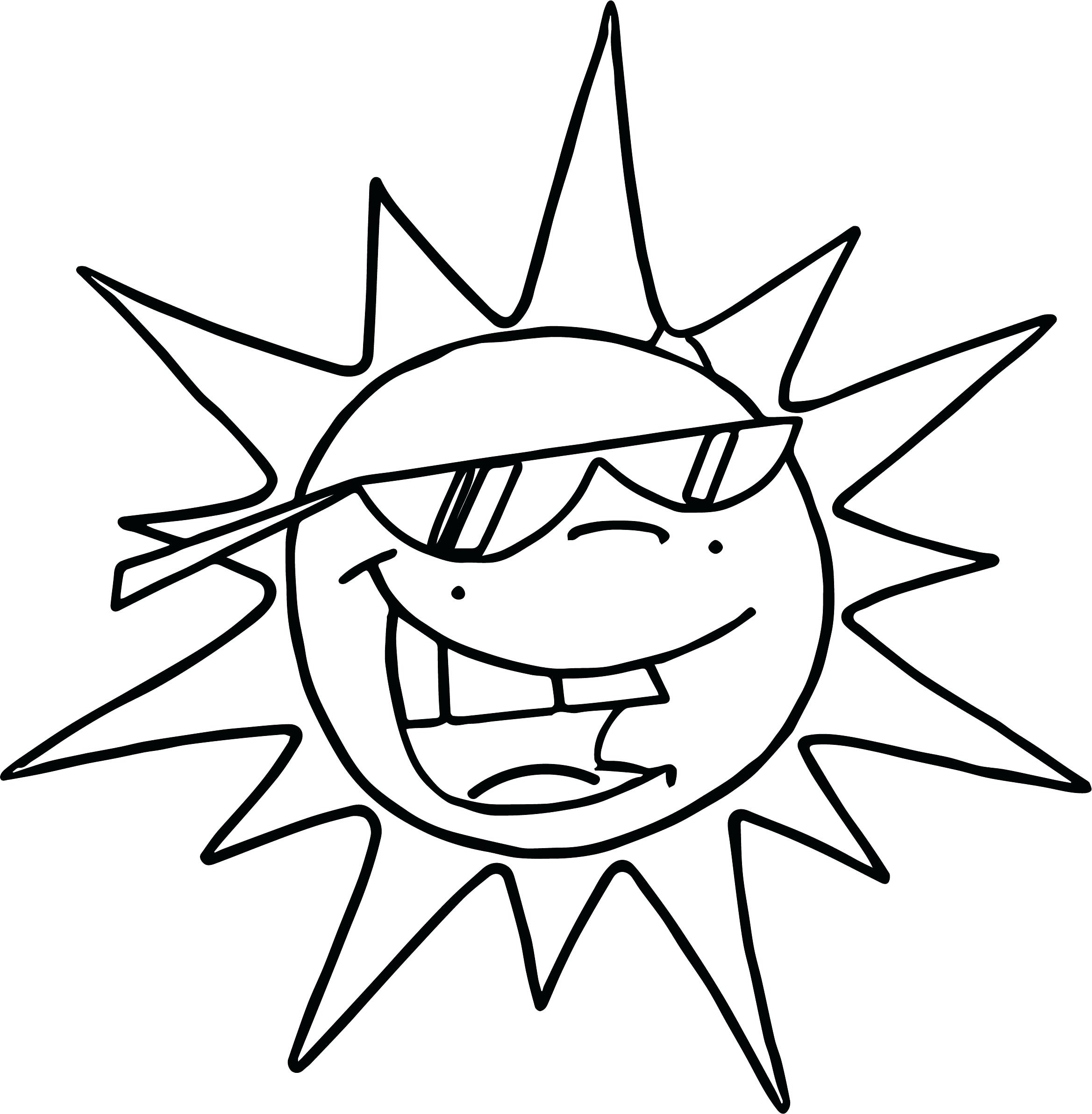2337x2384 Coloring Sun Coloring Summer Funny Page Safety Pages. Sun Coloring